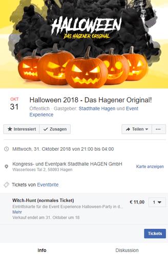 Facebook Halloween Veranstaltung