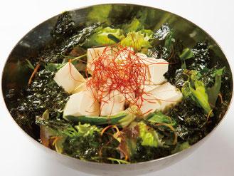 豆腐と韓国海苔たっぷりチョレギサラダ