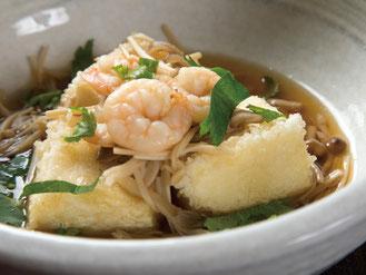 海老ときのこの揚げ出し豆腐