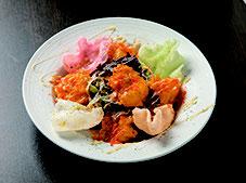 鶏ささみと韓国海苔のチョレギサラダ