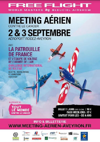 Meeting aérien contre le cancer 2017 , FFWM , Free Flight World Masters 2017,  meeting-aerien-aveyron