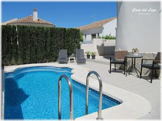 Zwembad van Villa Casa del Lago
