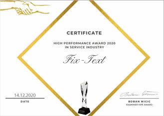 Hipe Award Gewinner, Steven Hofmeister Hipe Award 2020, HIPE Award Zertifikat, Unternehmer Steven Hofmeister