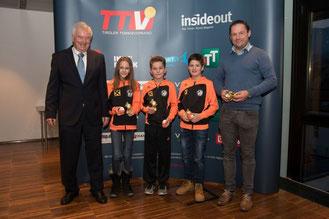 TTV-Präsidenten Seidenbusch, Melanie Winkler, Moritz Fuchs, Philipp Wieser, Andreas Fuchs