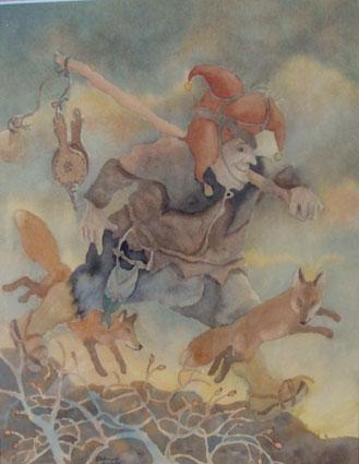 le fou aux renards-50x65