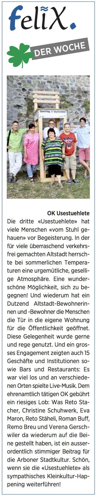 Wochenzeitung felix, 09.09.2016