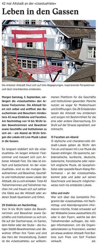 Wochenzeitung felix, 02.09.2016