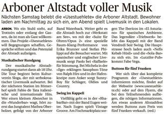 Thurgauer Zeitung, 30.08.2016