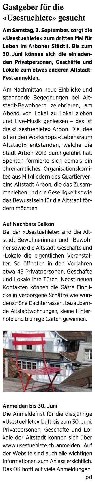 Wochenzeitung felix, 17.06.2016