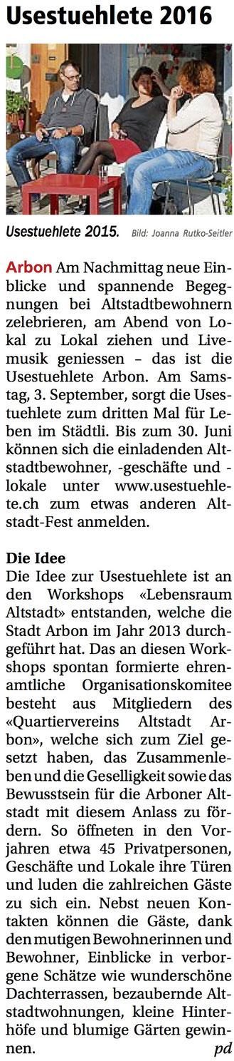 Oberthurgauer Nachrichten, 23.06.2016