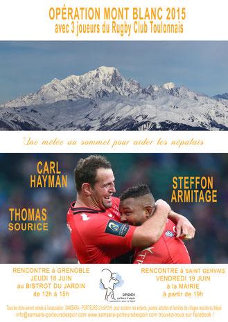3 joueurs du RC Toulonnais au sommet du Mont Blanc