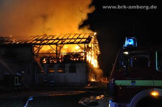 Brand landwirtschaftl. Anwesen in Etsdorf