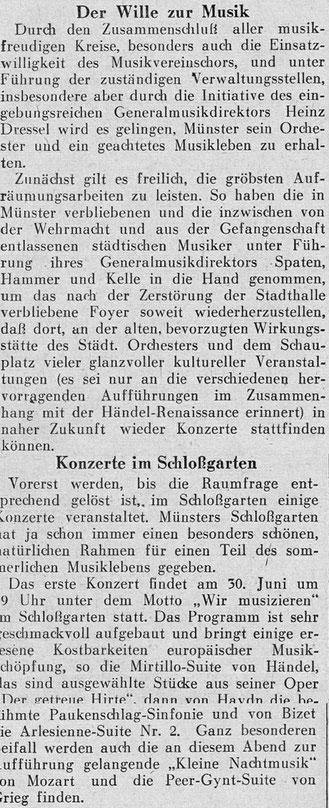 Neue Westfälische Zeitung 19.7.1945