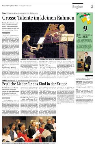 Artikel in der Zürichsee-Zeitung