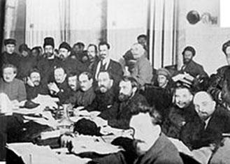 (riunione del governo bolscevico)