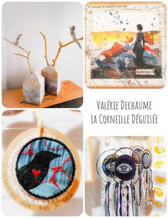 corneille déguisé valouchti de dada artisans createur peinture sculpture broderie