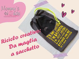 #riciclocreativi #sacchettoasilo #maglietta