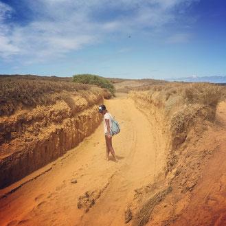 Auf dem Weg zum Green Sand Beach
