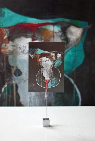 Rinderschädel, Postkarten-Set, Kunst, Bull Skull, Wacken, Boho, Schneckenpost, Kartensammler, Geschenke, Hamburger Künstler, art shop, art cards, postcard, longhorn, Suzan Leisering