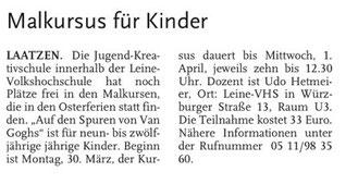 Laatzener Woche 25.03.09