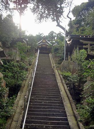 諏訪神社 石段