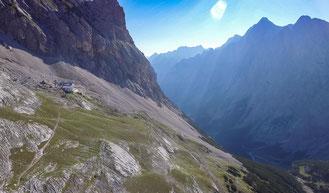 Berg, Zugspitze, Tal, Lichteinfall, Sonnenschein