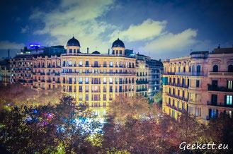 Vue nuit Barcelone