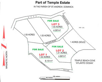 Plan of Temple Beach Cove Property