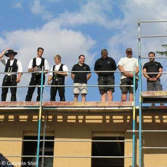 Richtfest, Baufamilie, Neubau, Grundsteinlegung, Bautradition