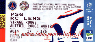 Ticket  PSG-Lens  2010-11