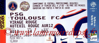 Ticket  PSG-Toulouse  2010-11