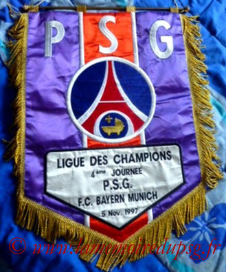 Fanion Officiel PSG-Bayern Munich  1997-98