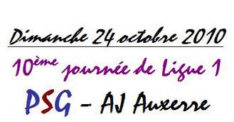 Ticket  PSG-Auxerre  2010-11