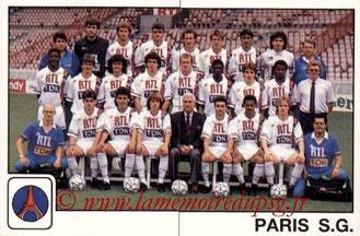 N° 260 et 261 - Equipe PSG