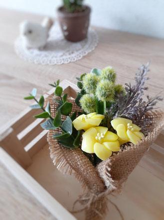 ソープカービング アレンジメント 小花のブーケ