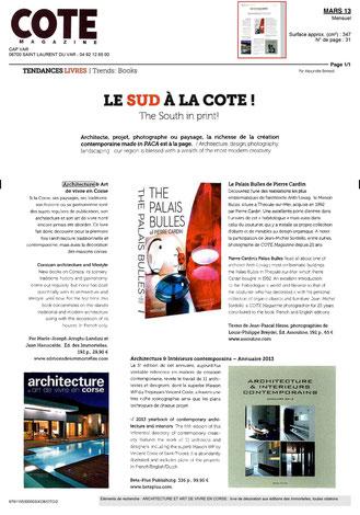 Cote Magazine Mars 2013