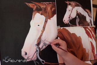 Pferdebilder, Pferdemalerei, Pferde nach Foto malen