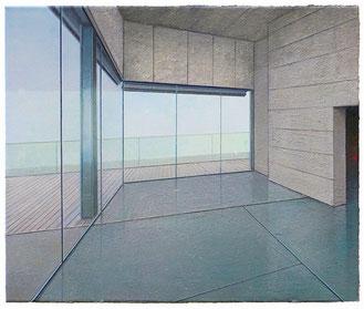 JENS HAUSMANN, EMPTY VIEW, 2018, Öl auf Leinwand, 60 x 50 cm, € 3.800,--