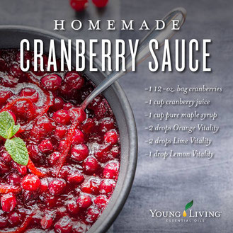 Young Living cranberry recipe with essential oils