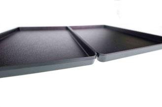 Auslegetablett schwarz ohne Rand 9903020, FMU GmbH, Tabletts schwarz