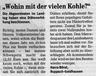 Westerwälder Zeitung 26.03.2009