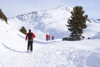 Schneeschuh Kühtai Ötztal Alm Haiming Tirol Winter