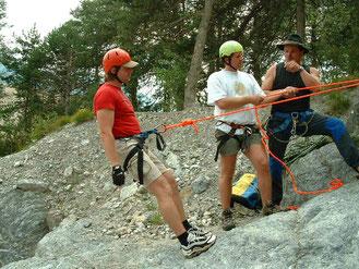 Abseilen, Seiltechnik Knotenkunde Sichern Schlucht Training