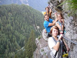 Klettersteig AustriAlpin Stuibenfall Geierwand Ötztal Tirol