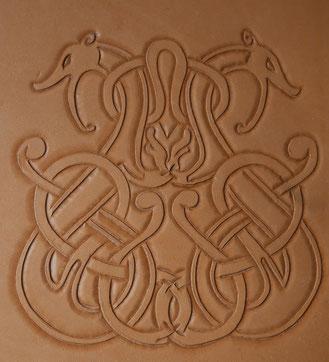 Repoussage du motif celte