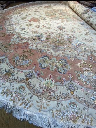 TABRIZ wool&silk 296X〇 SHIRFAR工房