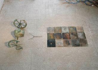 Homöostase, 1988/89, Bronze, Chrom, 2/4 Ex., 240 x 42 x 90 cm