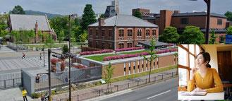 ラーニングスタジオ東窓からの眺望(同志社大学今出川キャンパス)