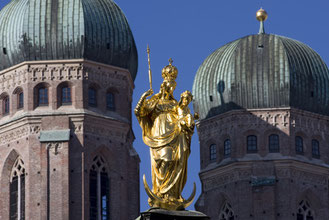Virgin Mary atop the Mariensäule Munich