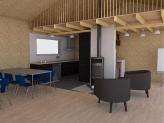 Entwurf Visualisierung Küche